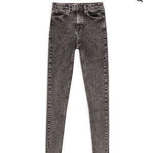 TOPSHOP Jamie Acid Wash Jeans